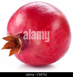 Ripe pomegranate isolated on a white background. - Stock Photo