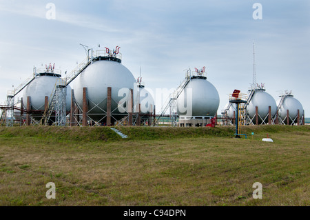 Finished goods tanks. Gas industry - Stock Photo