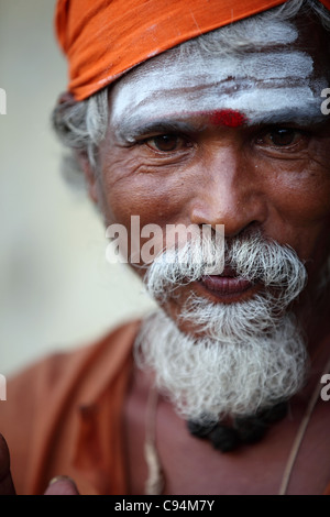 Man sadhu Arunachala South India - Stock Photo