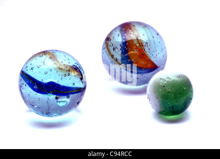 A selection of  colourful marbles, - Stock Photo