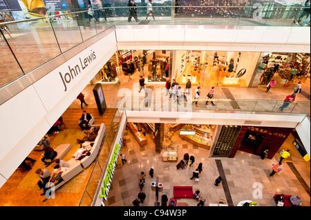 Westfield Stratford City shopping mall, E15, London, United Kingdom - Stock Photo