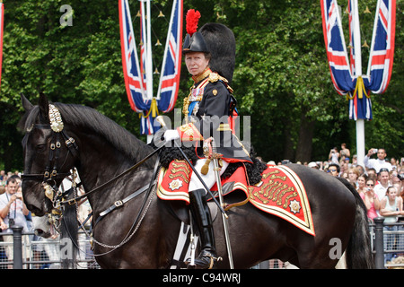 princess anne on horseback riding mardi gras taking part in the stock photo royalty free image. Black Bedroom Furniture Sets. Home Design Ideas