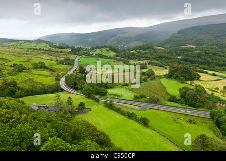 Beautiful landscape in Snowdonia, Wales - Stock Photo
