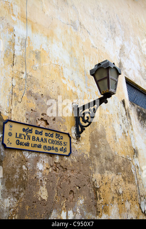 Street Scene at Galle Fort Sri Lanka - Stock Photo