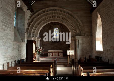St. Nicholas Church, Beaudesert, Henley in Arden, Warwickshire, England, UK - Stock Photo