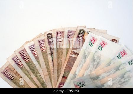 Kenyan currency shillings - Stock Photo