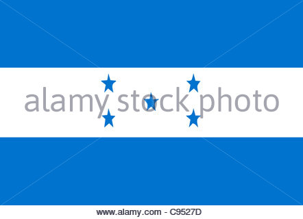 Digital illustration - Honduras Flag - Stock Photo