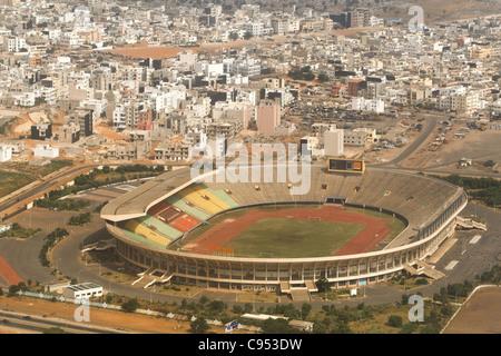 Aerial view of the stade Leopold Sedar Senghor stadium in Dakar, Senegal. - Stock Photo