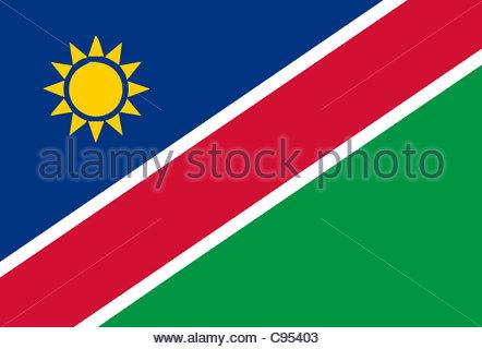 Digital illustration - Namibian Flag - Stock Photo