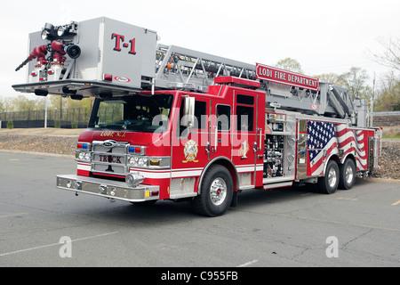 Pierce Velocity rear mount tower Lodi Fire Department New Jersey