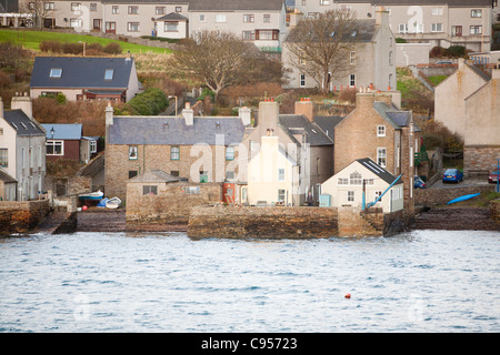 Stromness town and harbour on Orkney mainland, Scotland, UK. - Stock Photo