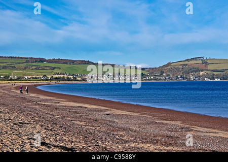 view to Rosemarkie from Chanonry Point near Fortrose on the Black Isle in Scotland - Stock Photo