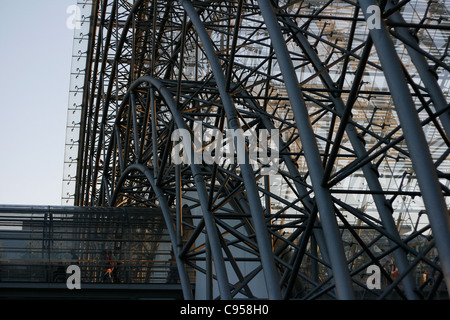 View on the construction of the Congress Center in Leipzig, Germany. - Stock Photo