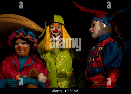 Clowns attend the 16th International Clown Convention in Mexico City - Stock Photo