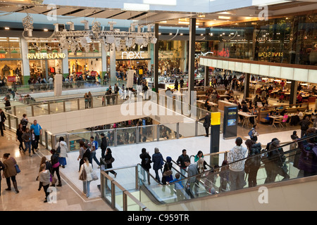 Westfield shopping mall centre, Stratford, London UK - Stock Photo