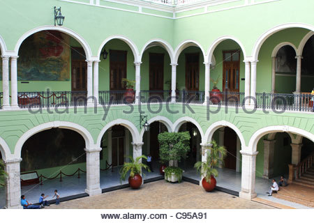 Governor's Palace in Merida, Mexico. - Stock Photo