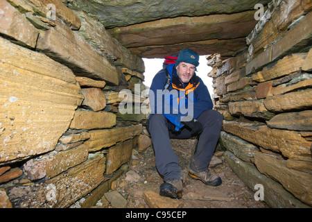 The Broch of Borwick on the west coast of Mainland Orkney, Scotland, UK. - Stock Photo