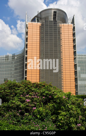 The Berlaymont building, which houses the headquarters of the European Commission, Brussels, Belgium - Stock Photo