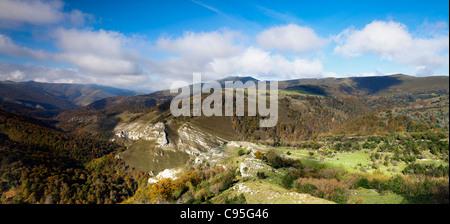 Cantabria mountains. Valles Pasiegos. Spain - Stock Photo