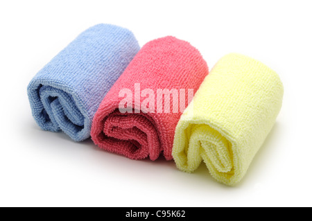 Rolled up Towels, Wash Cloths - Stock Photo