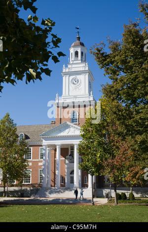 Gilman Hall, Keyser Quadrangle, Johns Hopkins University, Baltimore, Maryland, USA - Stock Photo