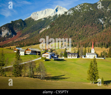AT - TYROL: Village of Steinberg am Rofan - Stock Photo