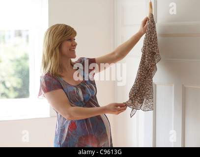 Pregnant woman. She is 35 weeks pregnant. - Stock Photo