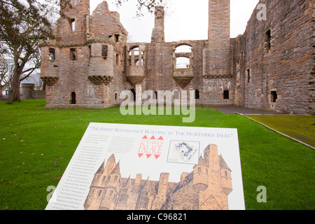 The Earls Palace in Kirkwall, Orkney, UK, was built in 1606 and is the finest Renaissance building in the northern - Stock Photo