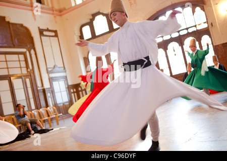 Whirling Dervishes - Istanbul, Turkey - Stock Photo