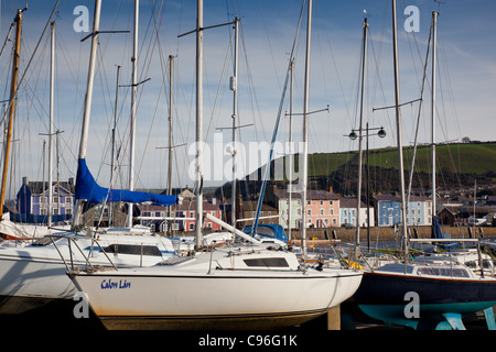 Sailing boats at Aberaeron, Ceredigion, Wales - Stock Photo
