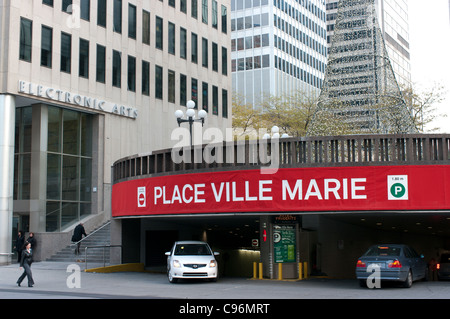 Place Ville Marie entrance to indoor parking, Downtown, Montreal, Quebec, Canada - Stock Photo