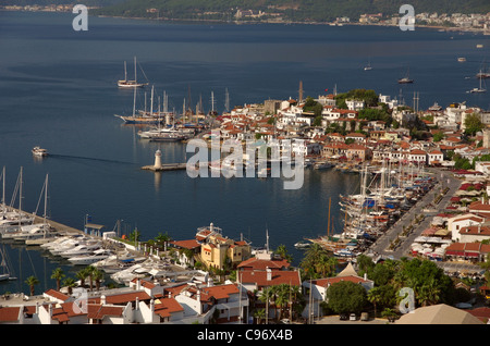 Marmaris Old Town and Harbour, Mugla, Turkey - Stock Photo