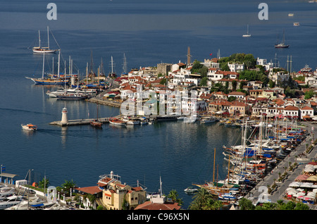 Marmaris Old Town and Harbour, Muğla, Turkey - Stock Photo