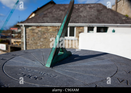 Sundial in the fishing village of Baltimore, West Cork, Ireland - Stock Photo