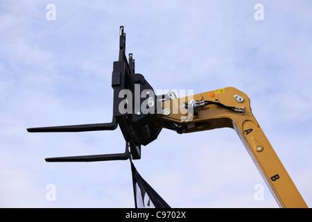 Forklift head of telescopic handler - Stock Photo