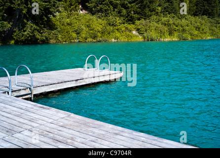 lost lake near whistler blackcomb in summer - Stock Photo