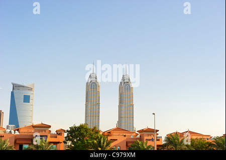 High-rise buildings, downtown Dubai, Dubai, United Arab Emirates, Middle East - Stock Photo
