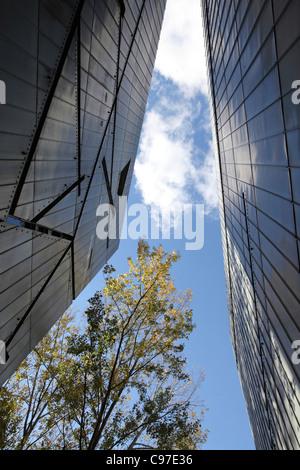 Jewish Museum in Berlin, designed by Daniel Libeskind, Berlin, Germany - Stock Photo