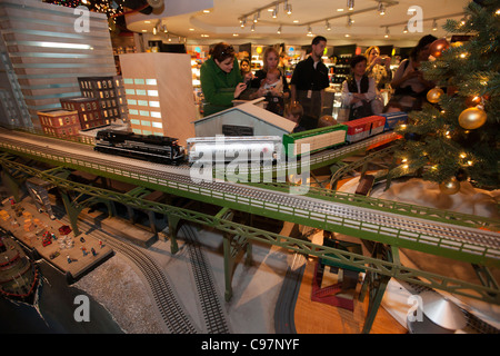 NYC Transit Museum in Grand Central Terminal in New York 10th Annual Holiday Train Show - Stock Photo