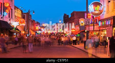 Beale Street, Memphis - Stock Photo