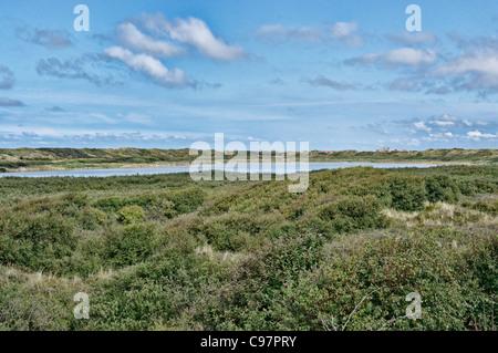 Lake Hammer, North Sea Island Juist, East Frisia, Lower Saxony, Germany - Stock Photo
