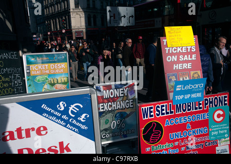 ticket booth in westend of london - Stock Photo
