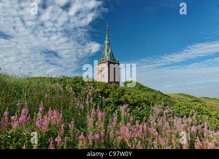 West Tower, North Sea Spa Resort Wangerooge, East Frisia, Lower Saxony, Germany - Stock Photo