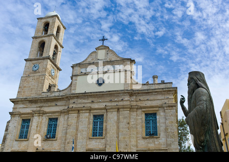 Greek Orthodox Cathedral, Hania, Chania, Crete, Greece, Europe - Stock Photo