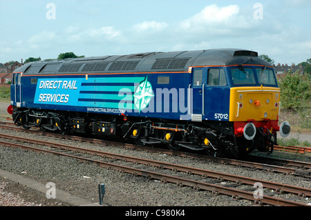 Direct Rail Services Diesel-Electric Loco No. 57012 at York station, England, UK - Stock Photo