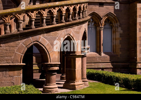 Winter sunlight reflection on the Arched stairway at  the McManus Art gallery in Dundee,UK - Stock Photo