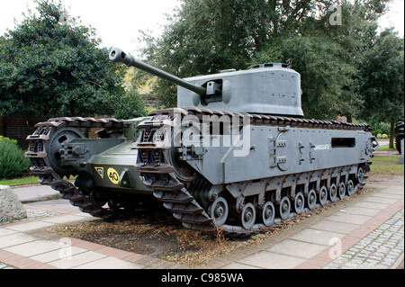 ROYA ARMOURED CORPS  CHURCHILL CROCODILE FLAME THROWER ARMOURED VEHICLE 1941 - 1952 - Stock Photo