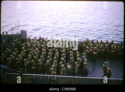 9th Infantry Division arriving in Vietnam - Stock Photo