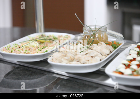 canapé on counter top - Stock Photo