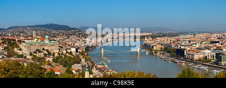 Budapest, View from Gellert Hill - Stock Photo